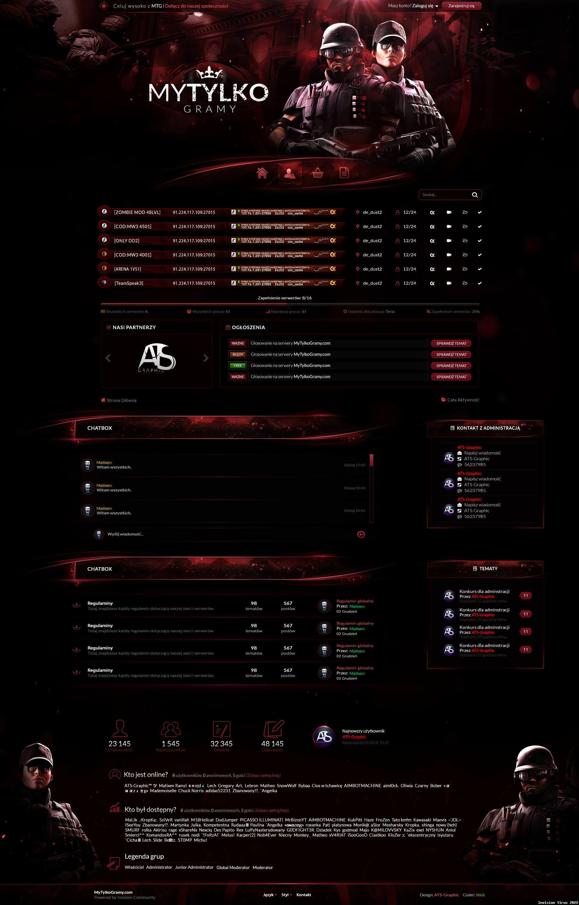 MTG Red Gaming Theme for IPS Community Suite 4 3 - Invision